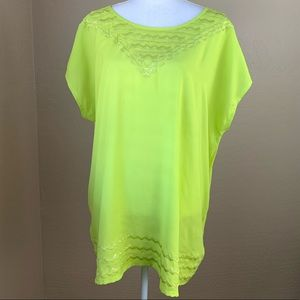 Harper + Liv Plus Size Neon Sequins Blouse